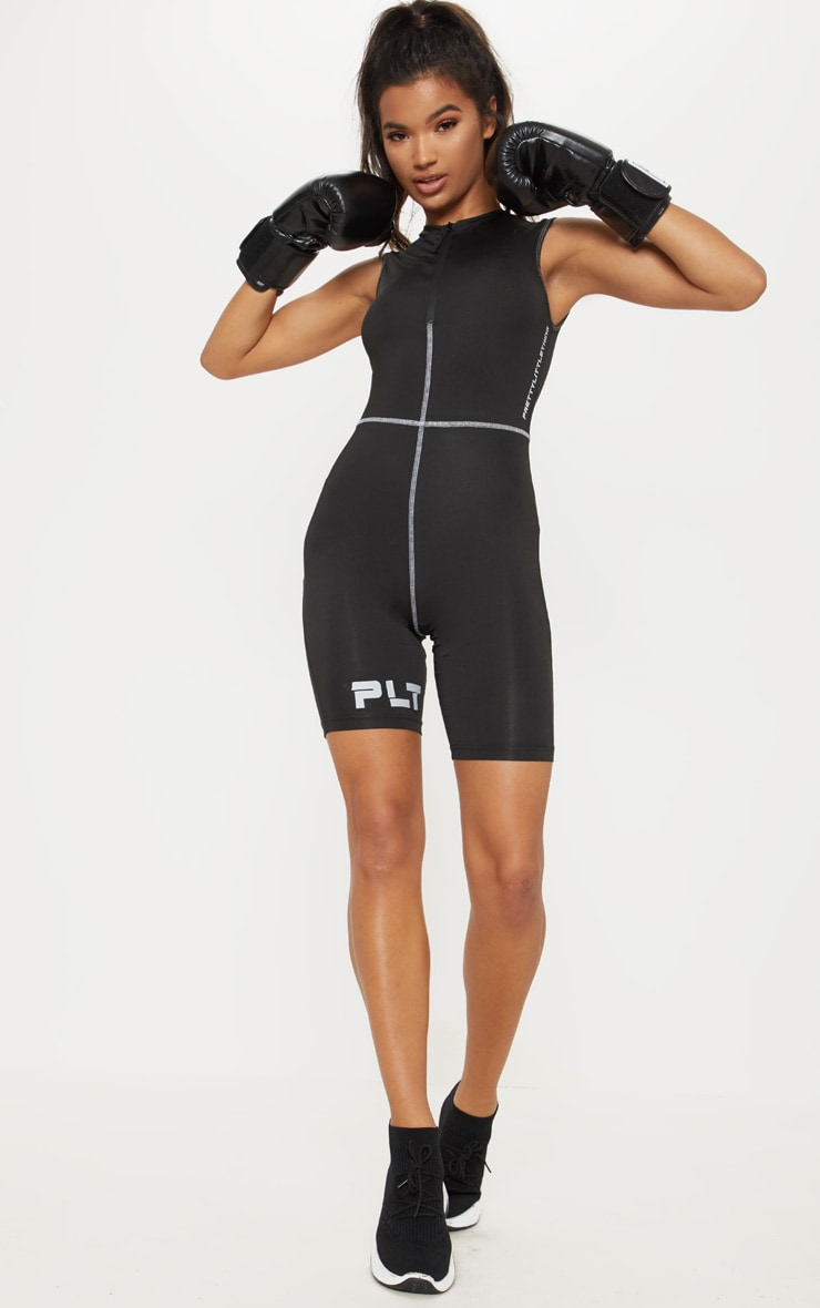 PLT Black Gym Unitard  4