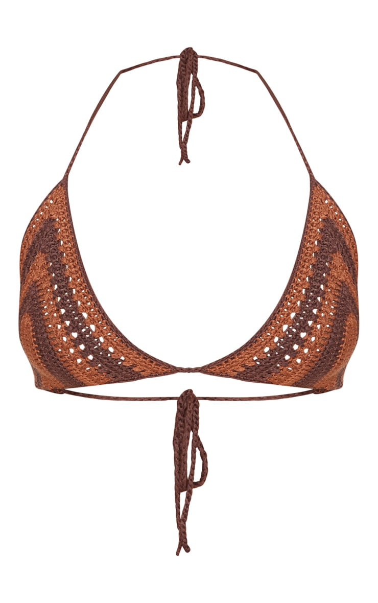 Chocolate Crochet Bikini Top 3