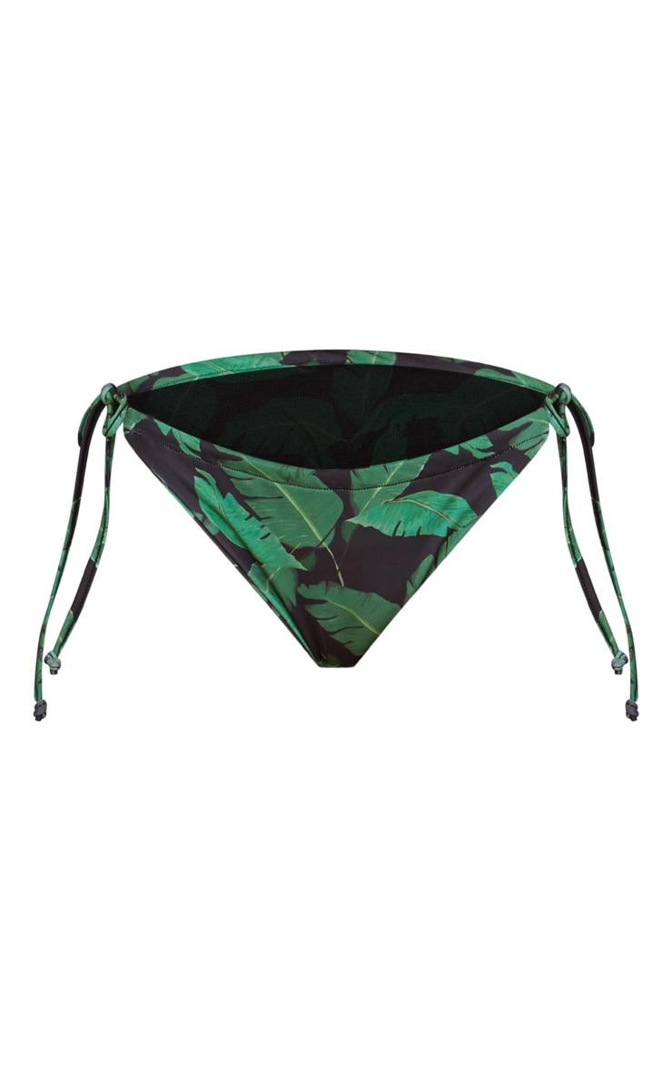 Black Banana Leaf Adjustable Bikini Bottom 3