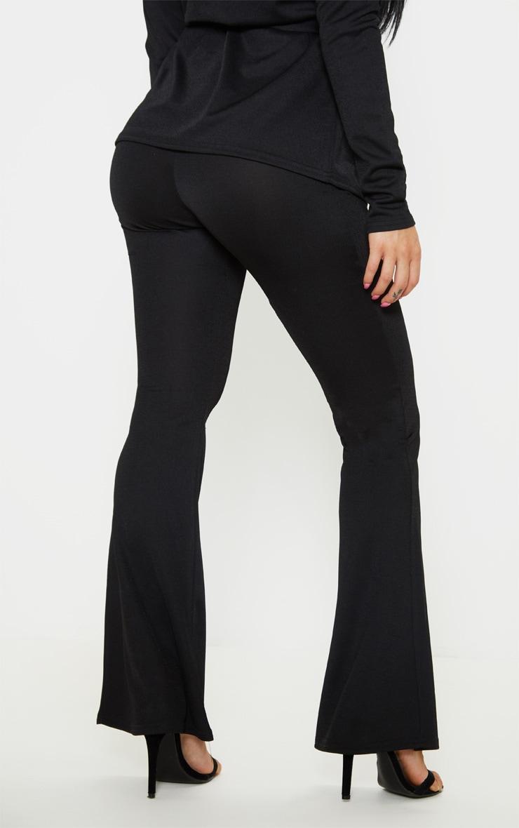Petite - Pantalon flare noir 4