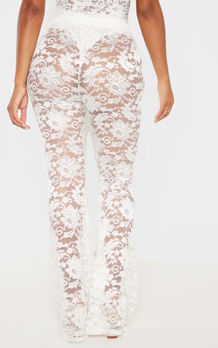 Shape White Lace Flare Trouser  4
