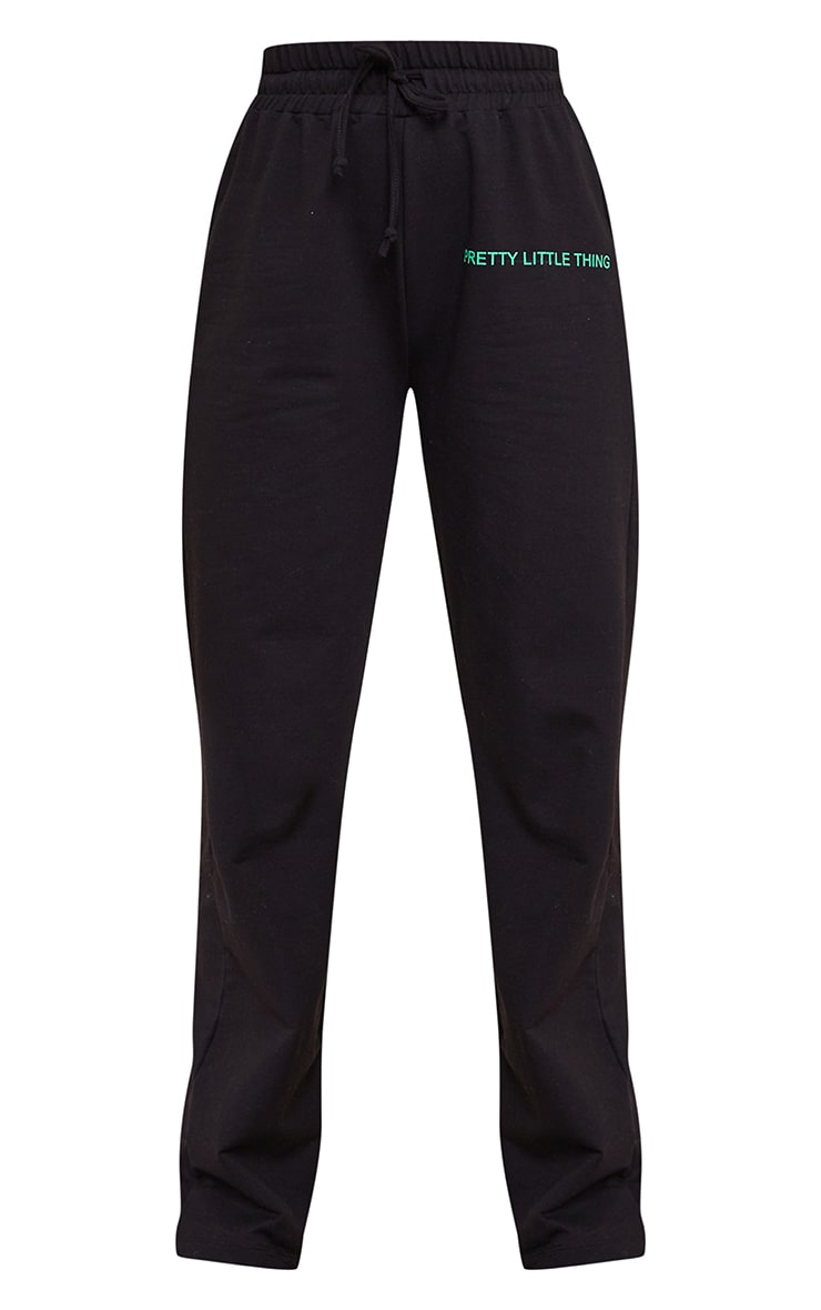 PRETTYLITTLETHING Black Wide Leg Joggers 5