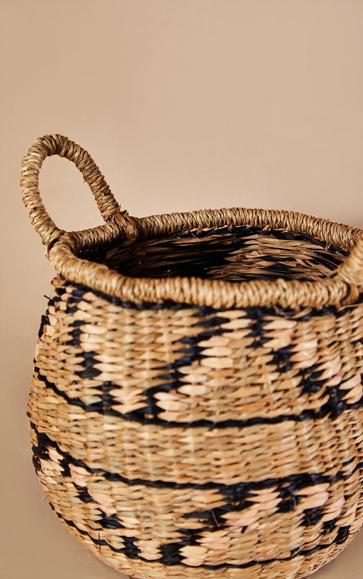 Seagrass Zig Zag Basket 4