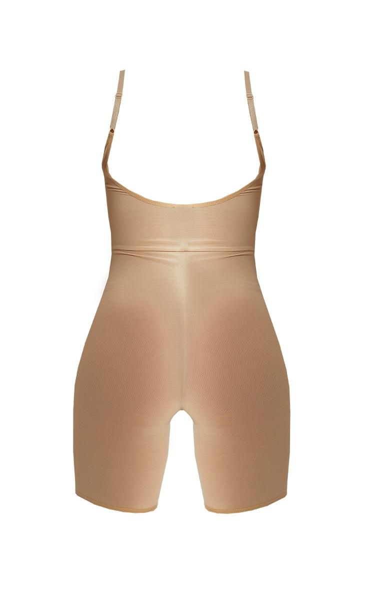 Nude Shapewear Power Mesh Control Low Back Longline Body 6