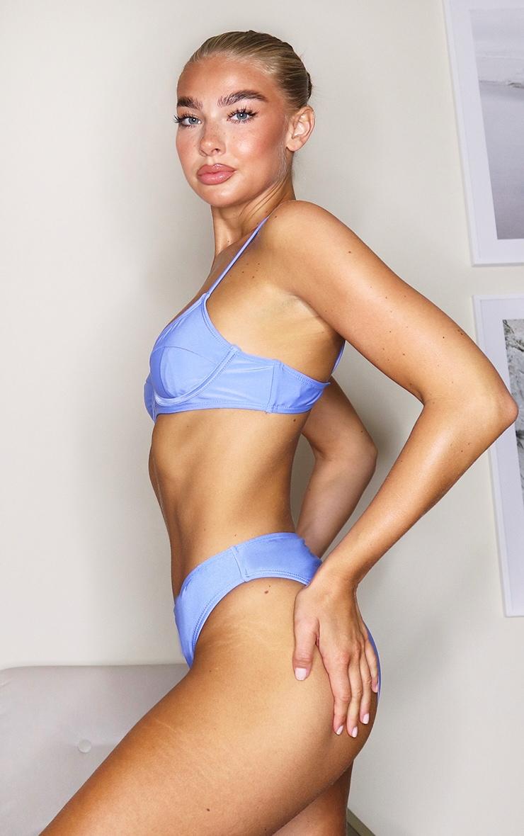 Cornflower Blue Mix & Match Underwired Bikini Top 3