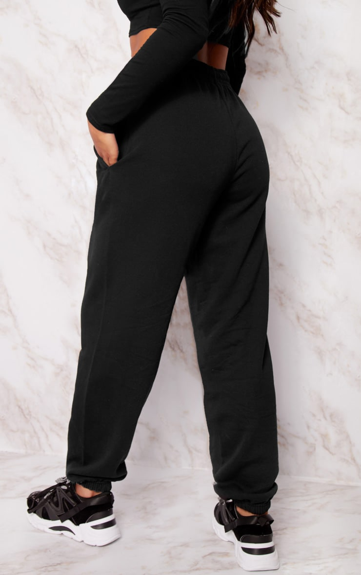 Black Casual Track Pants 4