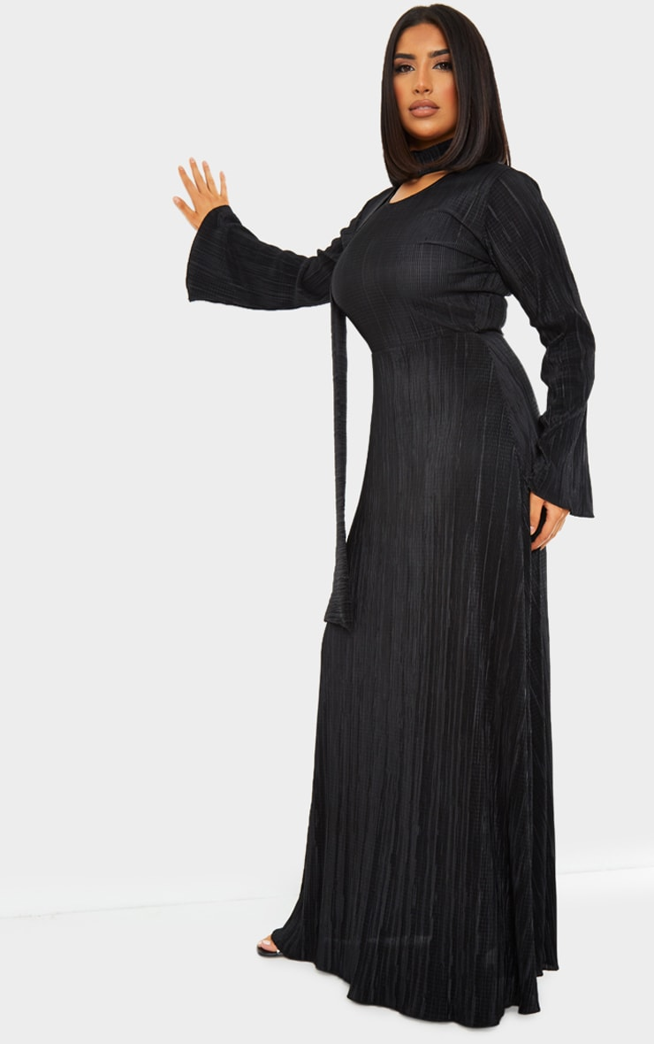 Black Pleated Abaya 3