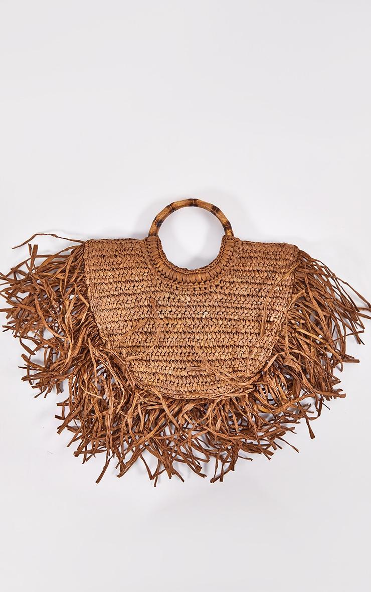 Brown Raffia Grab Bag 2