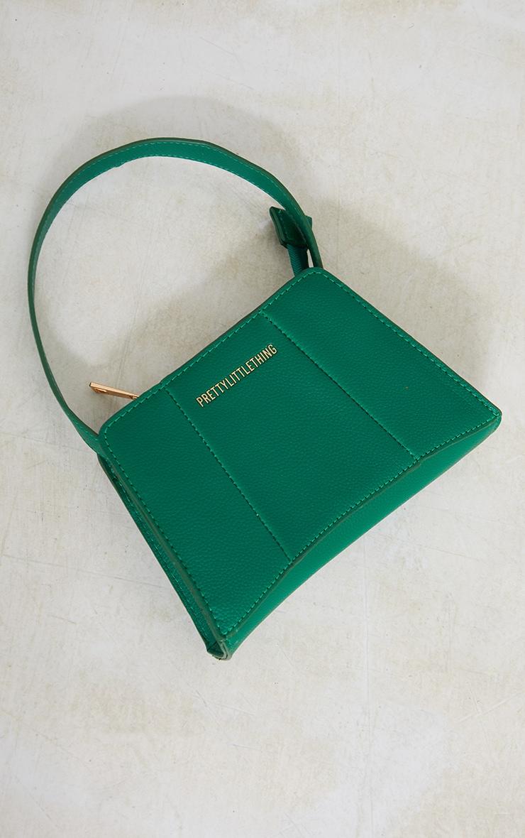 PRETTYLITTLETHING Green Triangular Shoulder Bag 3