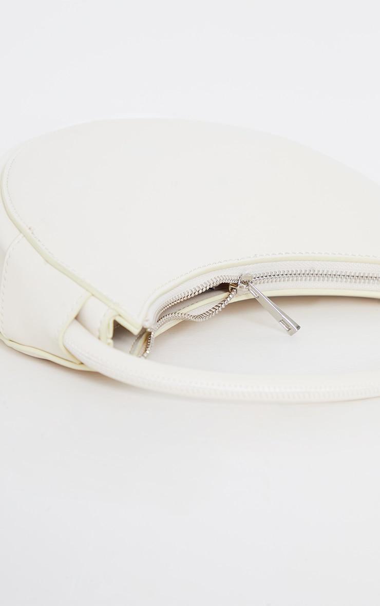 Cream Crescent Shoulder Bag 4
