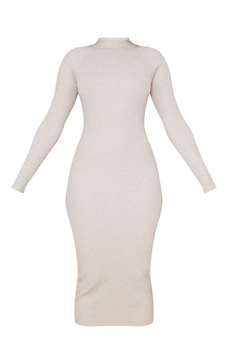 Stone Turtle Neck Knitted Bodycon Maxi Dress 5