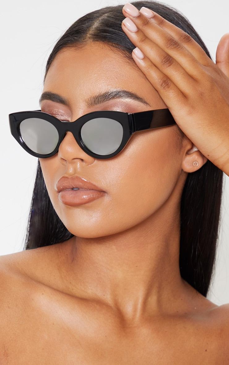 Black Cat Eye Revo Lens Sunglasses 1
