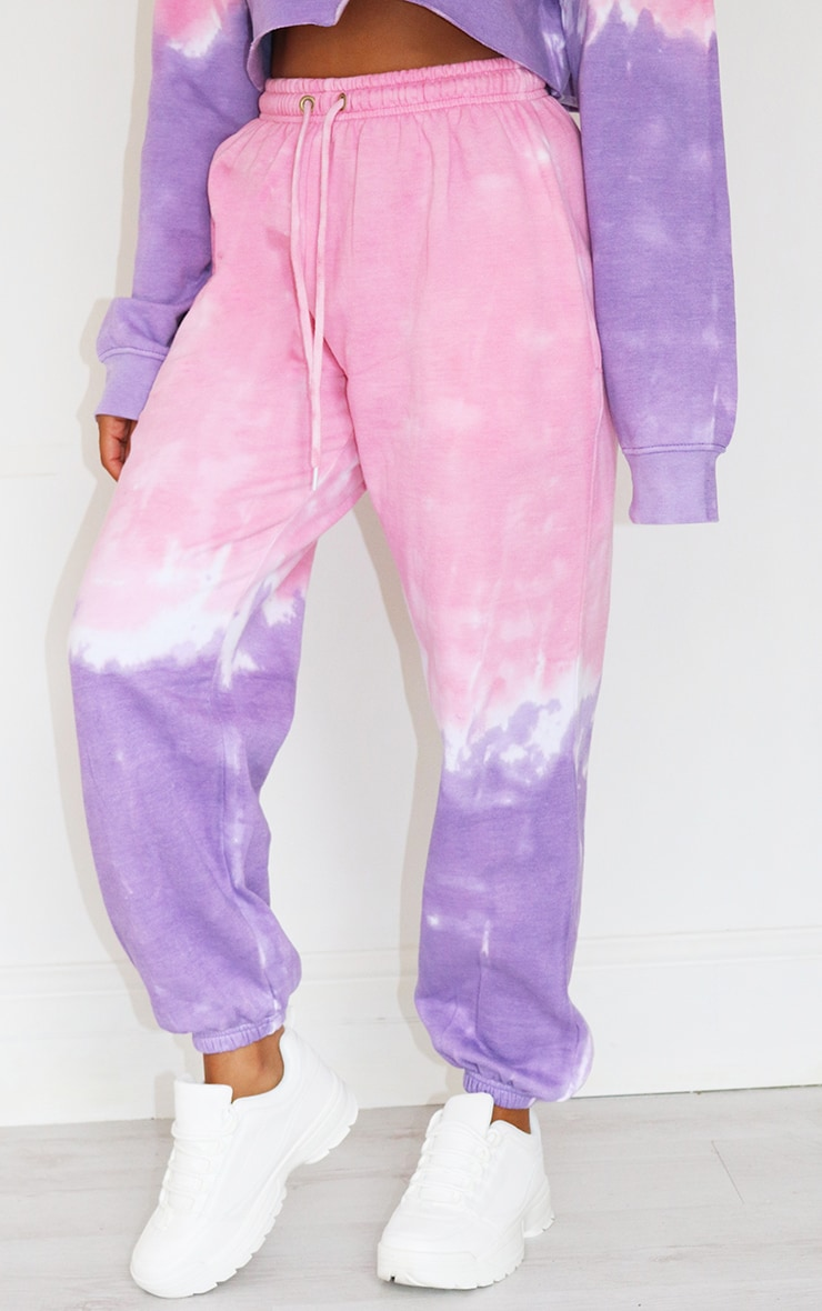Petite Pink Ombre Oversized Jogger 2