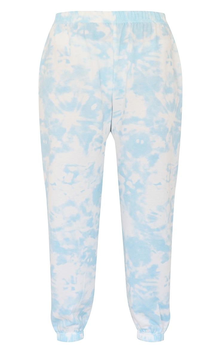 Petite - Jogging basique bleu ciel imprimé tie & dye resserré aux chevilles 5