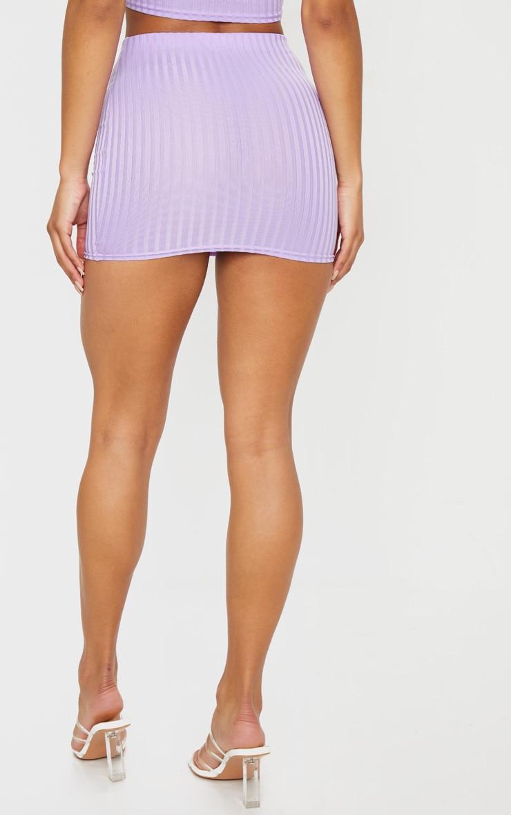 Lilac Mini Rib Skirt 3