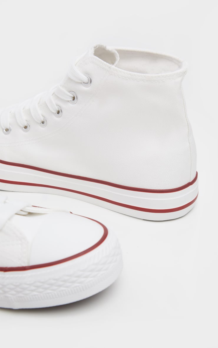 White High Top Canvas Sneakers  4