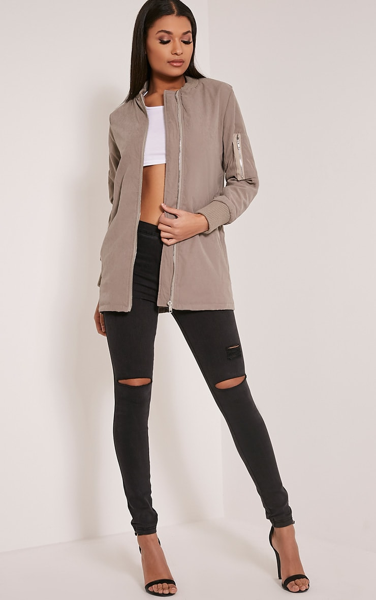 Bailey Grey Longline Padded Coat 4