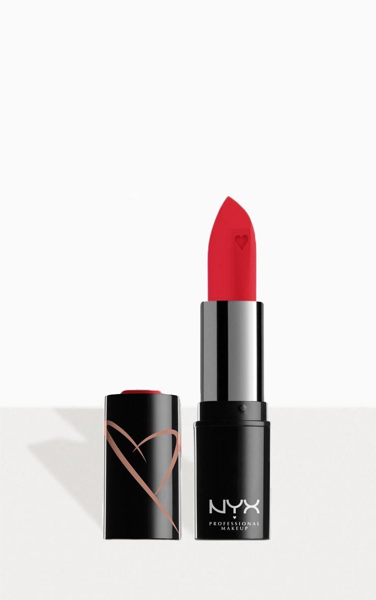 NYX PMU Shout Loud Satin Lipstick Bright Red Red Haute
