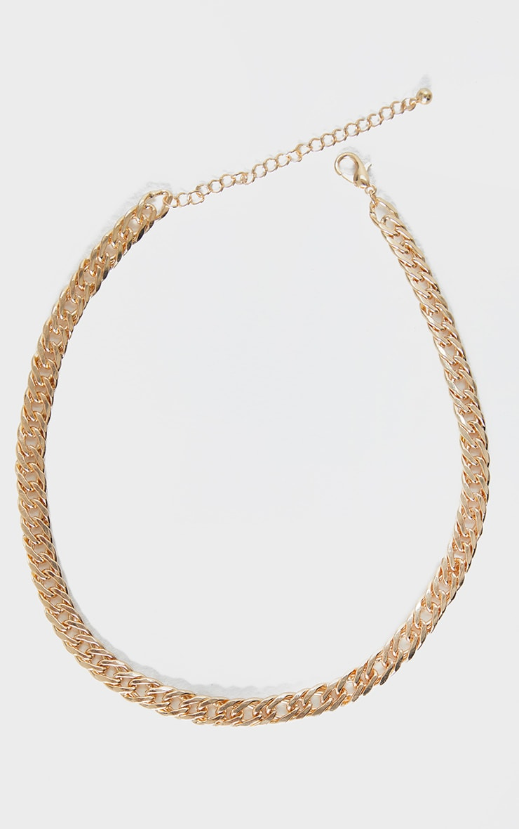 Gold Thick Short Chain Necklace 3