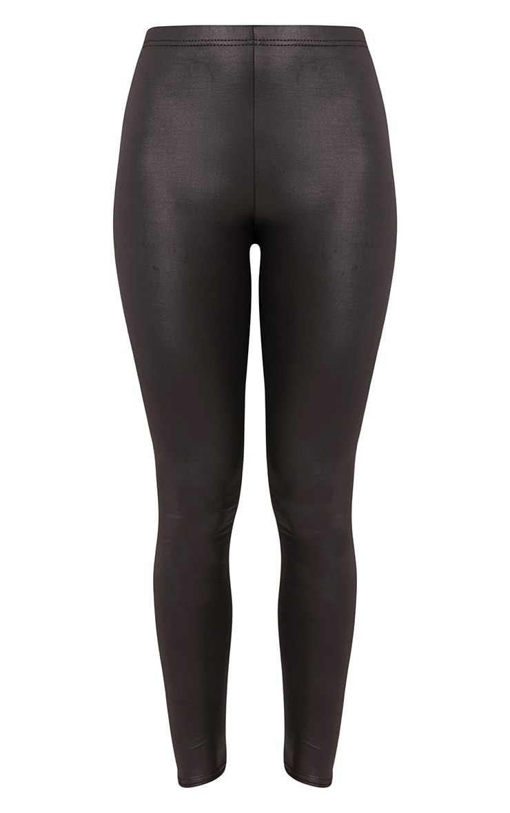 Savannah leggings noirs en vinyle 3