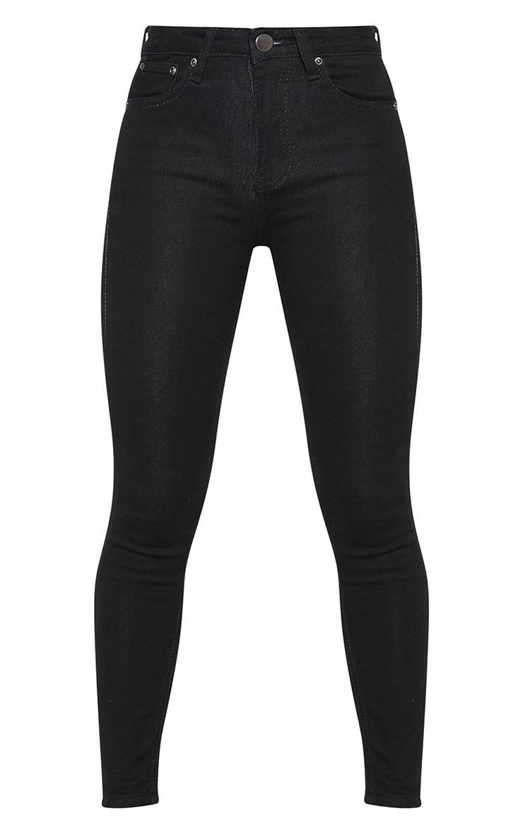 Petite jean skinny longueur chevilles noir 3