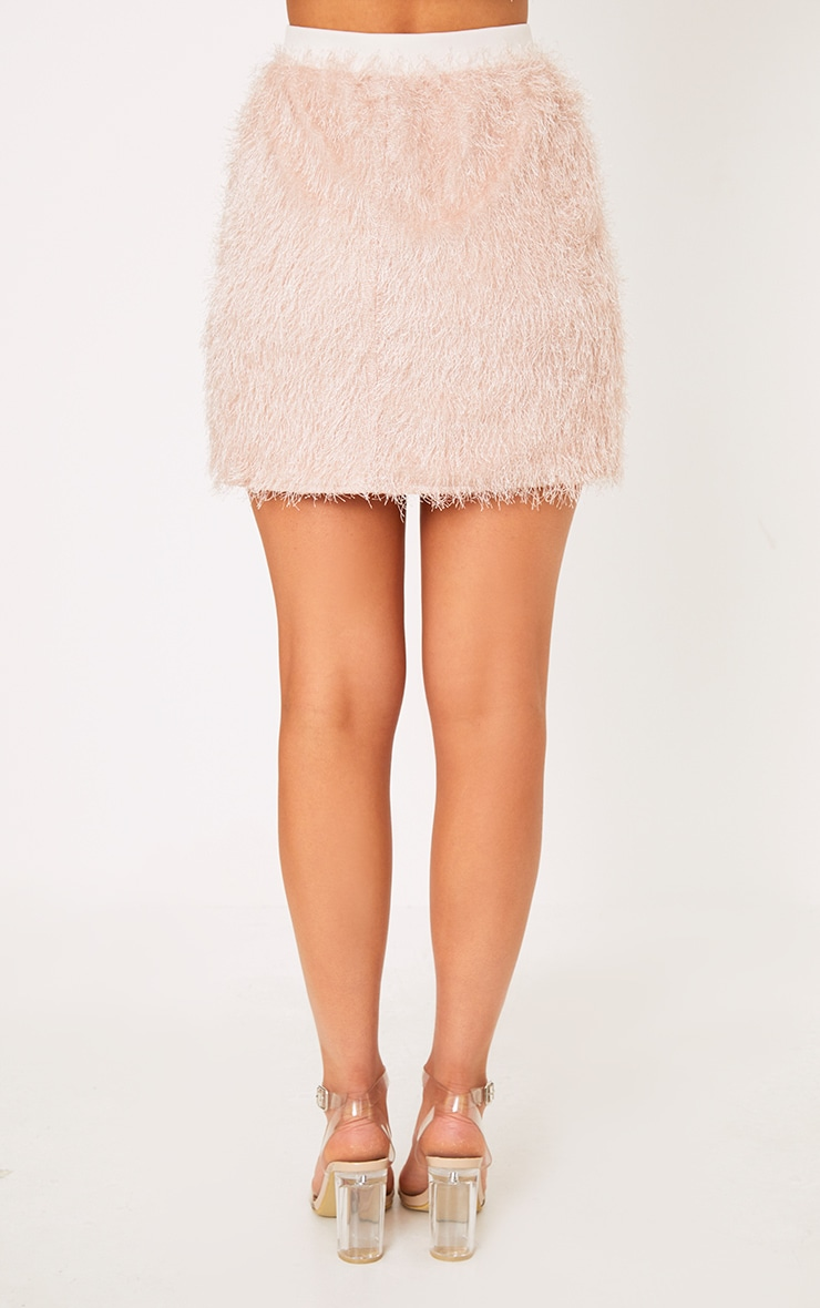 Diala Pink Eyelash  Mini Skirt  4