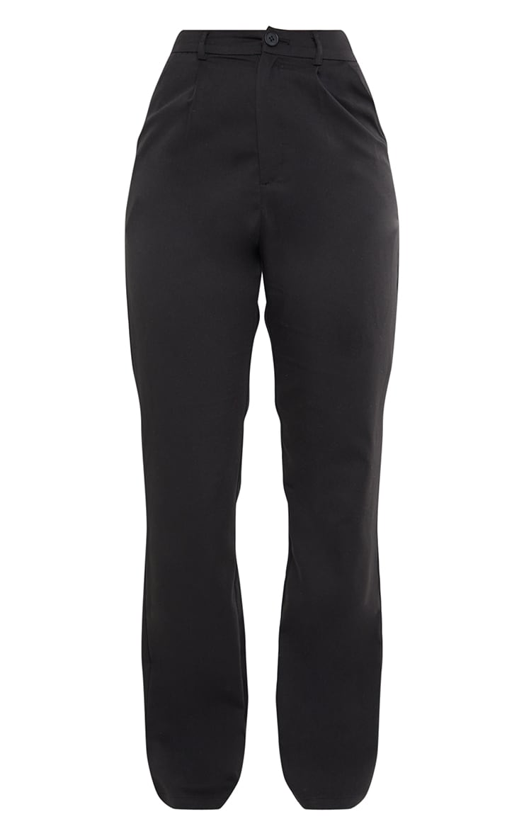 Black Woven Seam Front Dad Pants 5