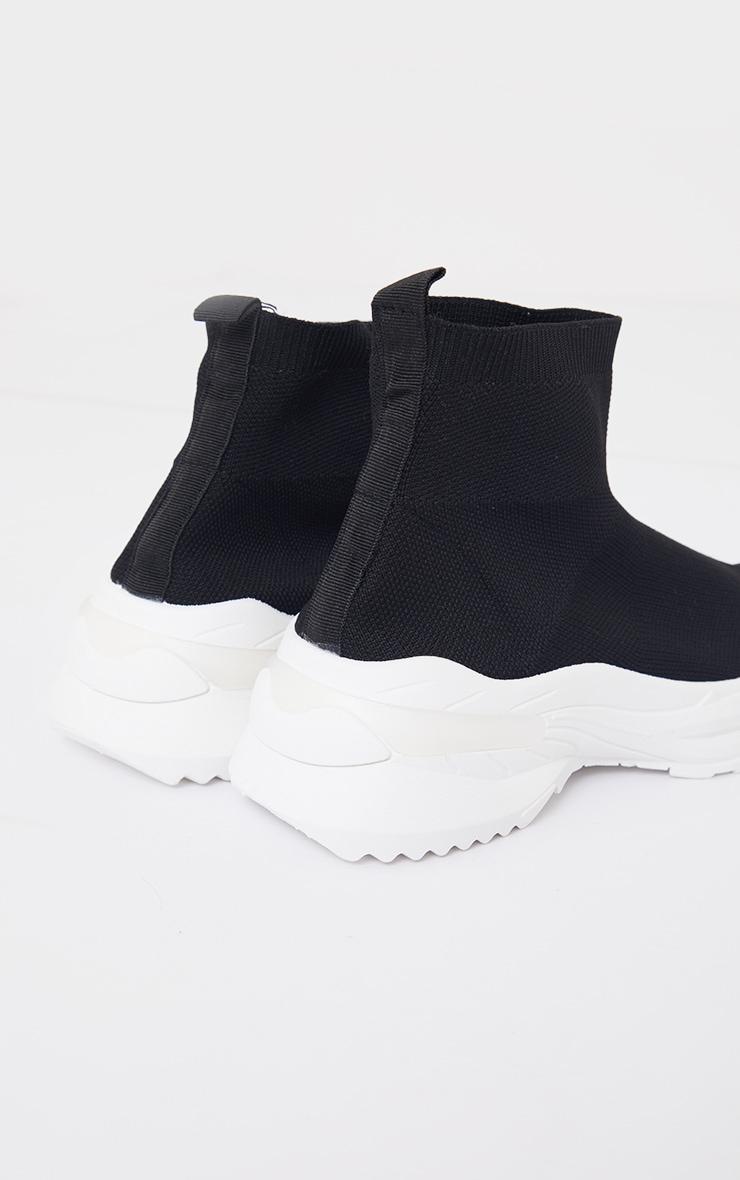 Black Knit Sock Chunky Sole Sneakers 4