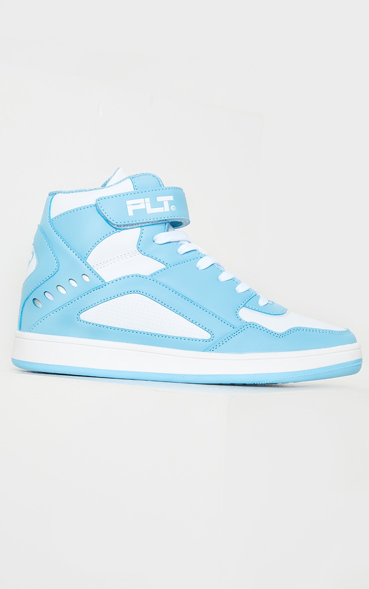 PRETTYLITTLETHING Mint Strap High Top Trainers 3