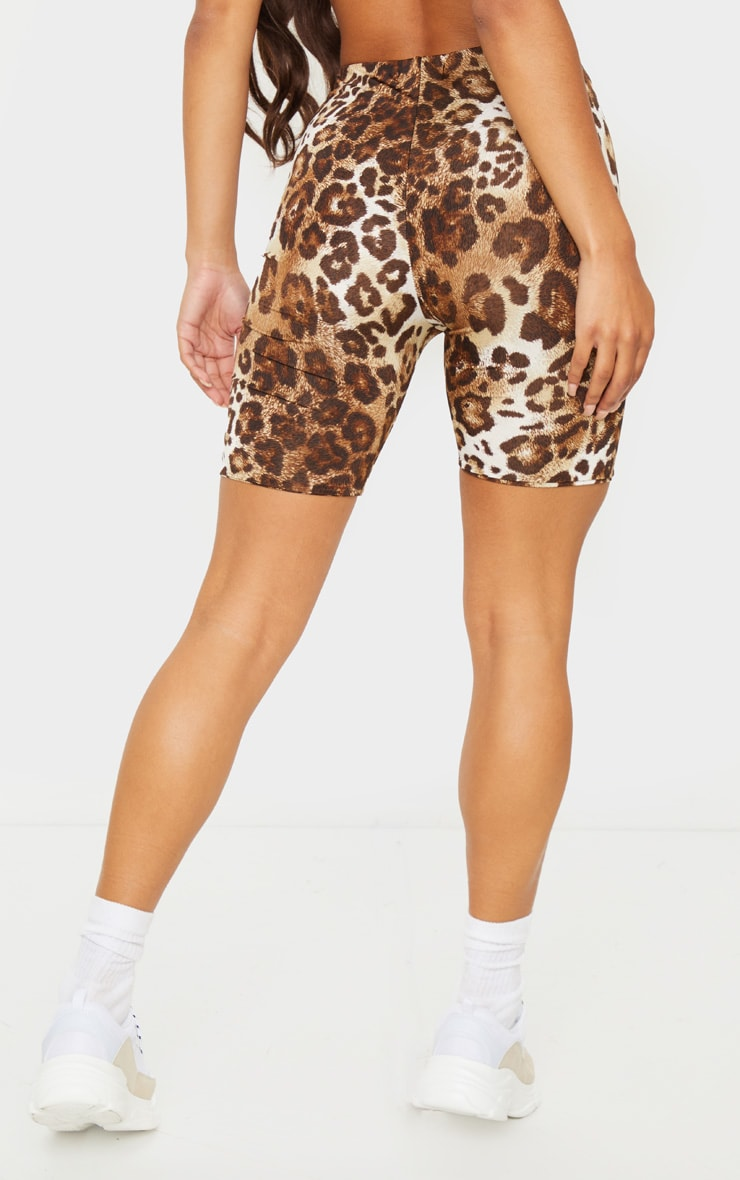 Brown Leopard Slinky Bike Short 3
