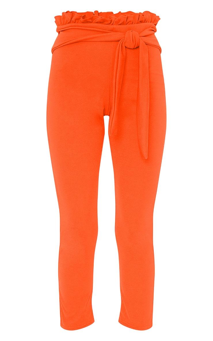 Orange Paper Bag Skinny Trousers 3