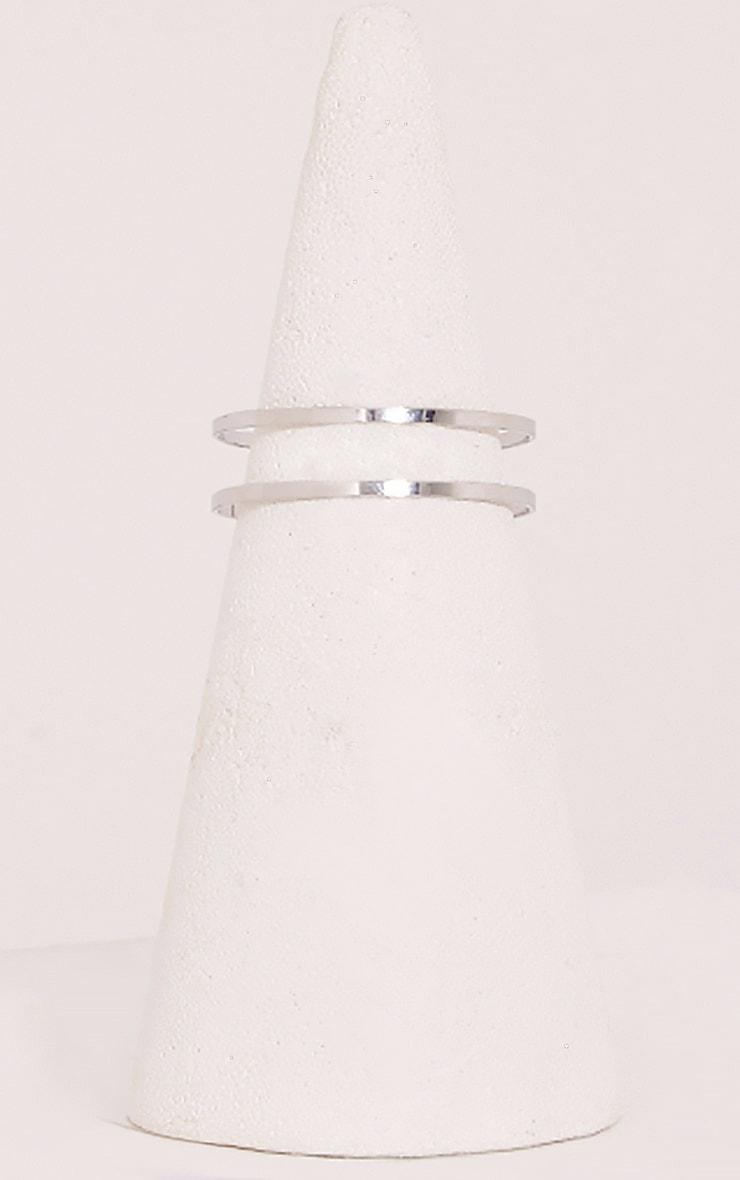 Danah Silver Cut Out Upper Arm Cuff 3