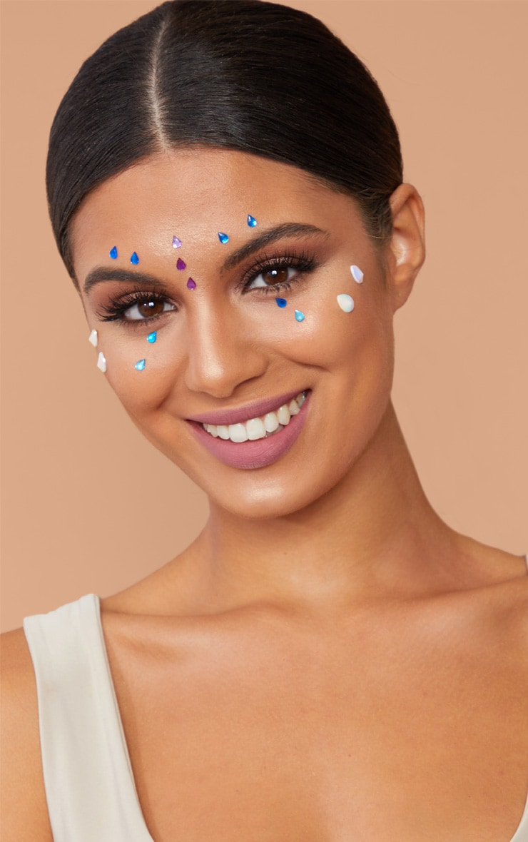 PRETTYLITTLETHING Tear Drop Face Jewels 1