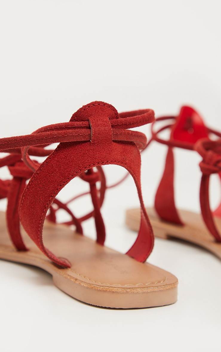 Red Knot Strappy Leather Sandal 4