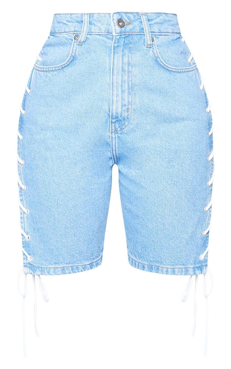 Shape - Short en jean vintage à lacets 6