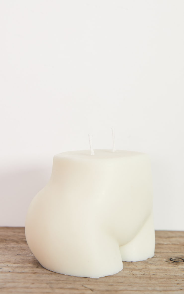 White Large Booty Candle 5