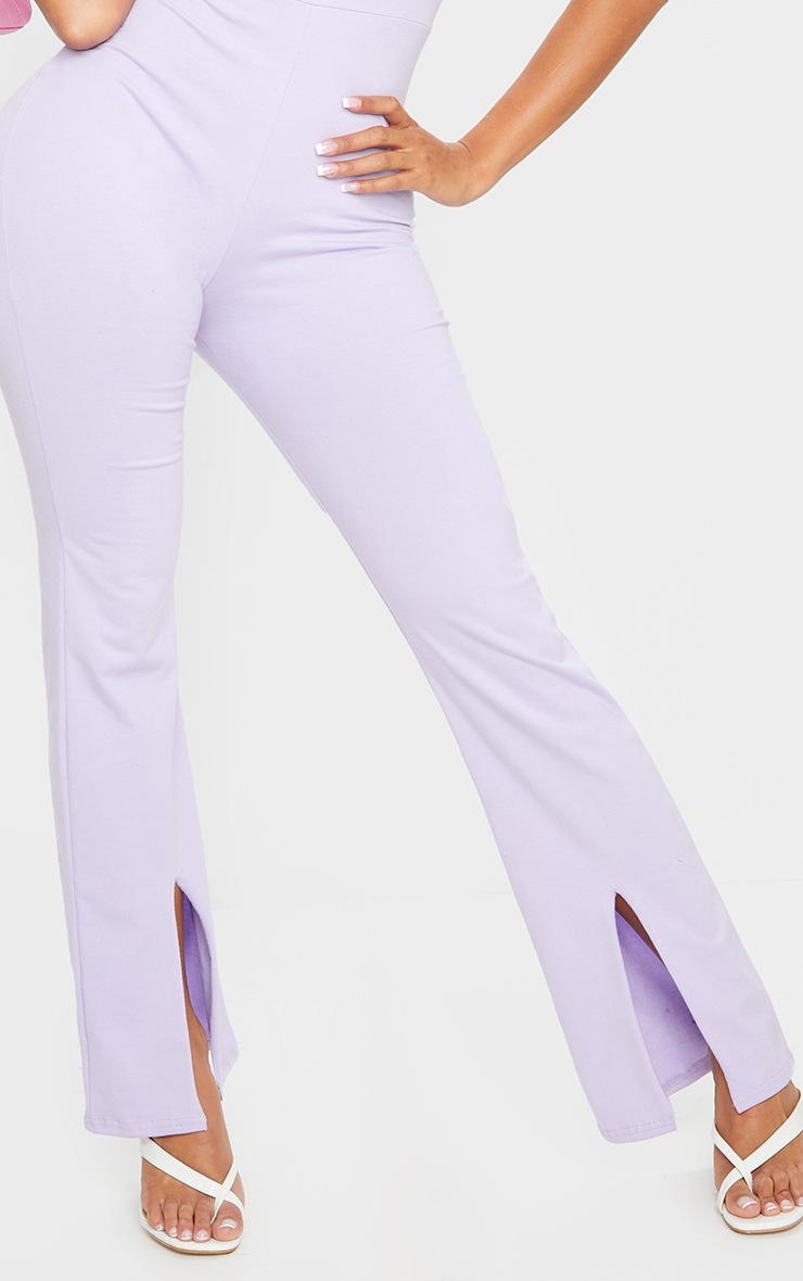 Shape Lilac Cotton Square Neck Split Front Jumpsuit 4