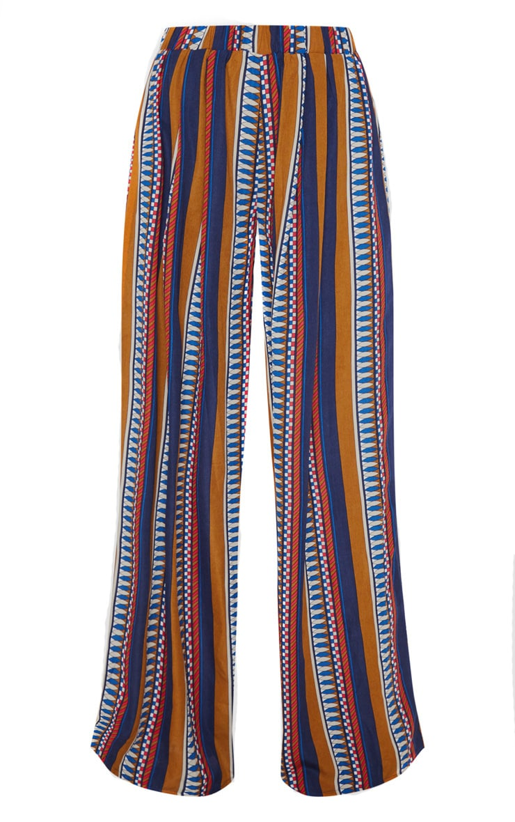 Multi Geo Print Wide Leg Trousers 3