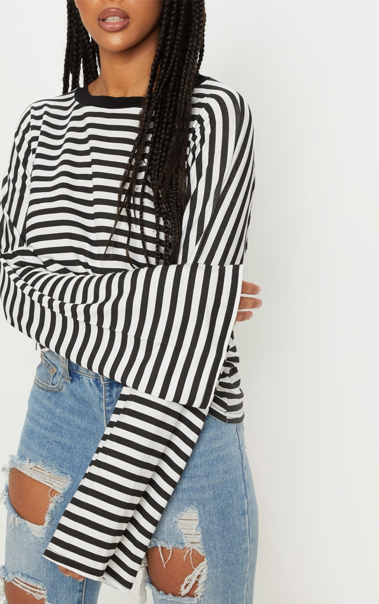 Mono Oversized Stripe Long Sleeve Top 5