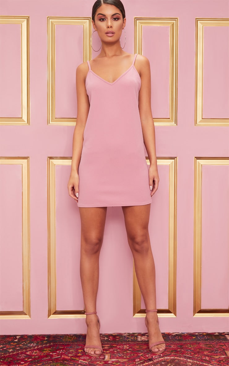 Rose Strappy Detail Backless Cami Dress 4