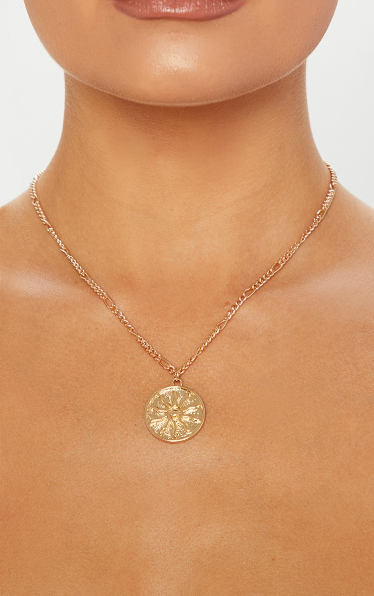 20c2c764d1faf Gold Sun Disc Necklace