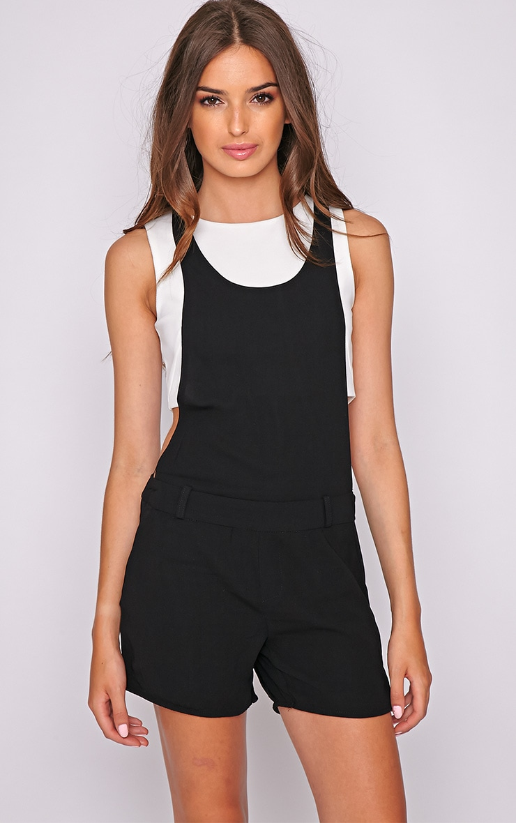 Willow Black Zip Detail Playsuit -L 4