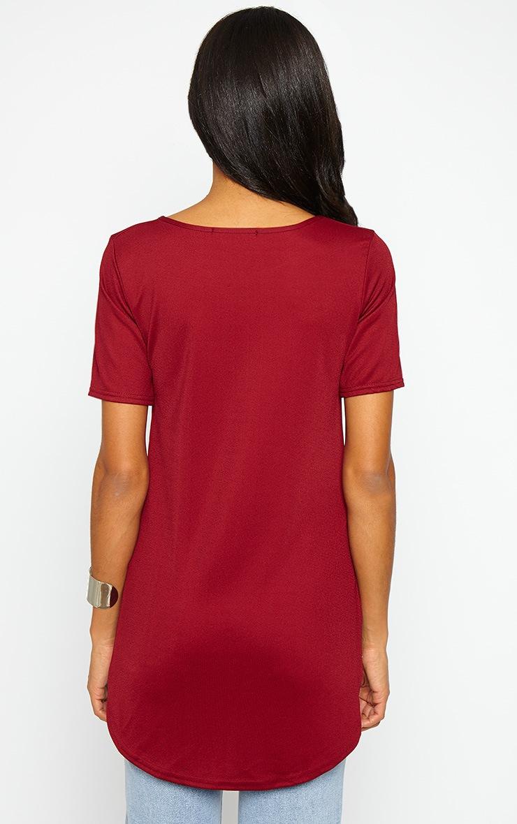 Caddie Wine Drop Hem T-Shirt 2