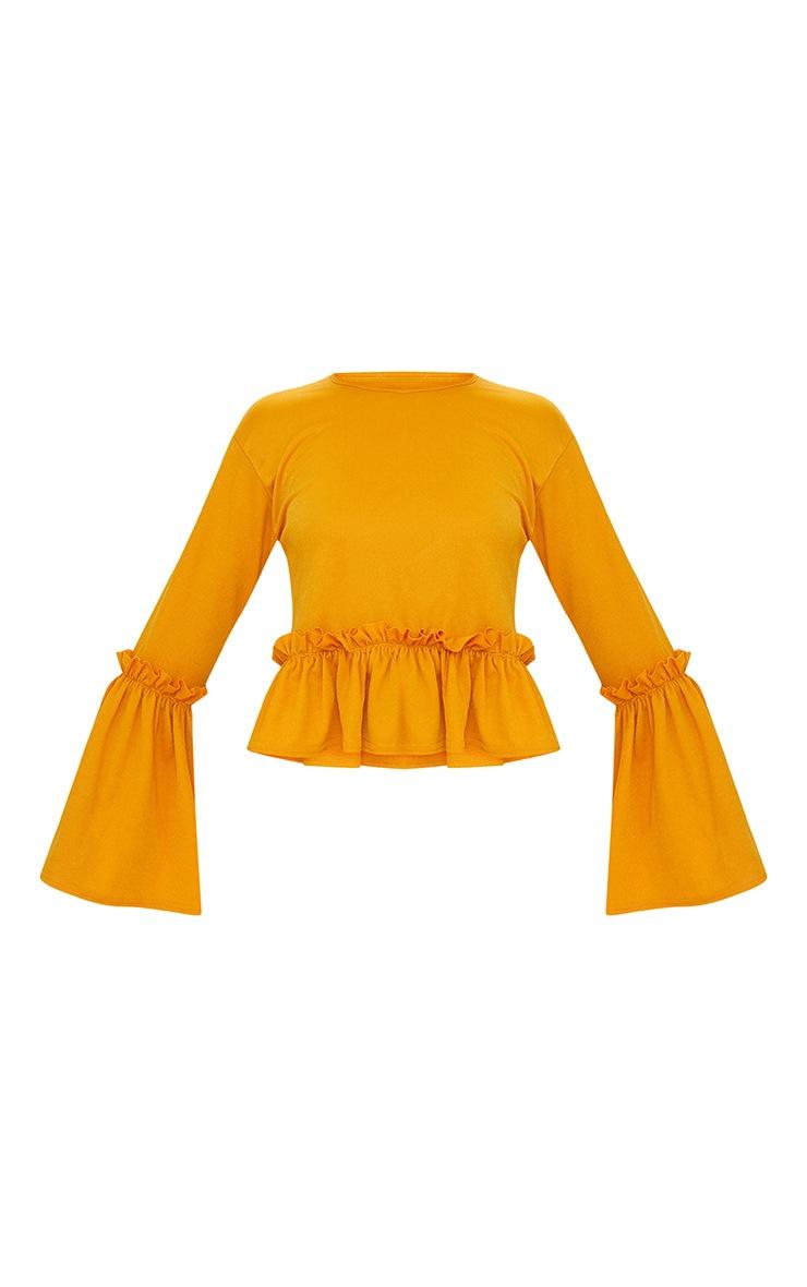 Mustard Frill Sleeve Top  3