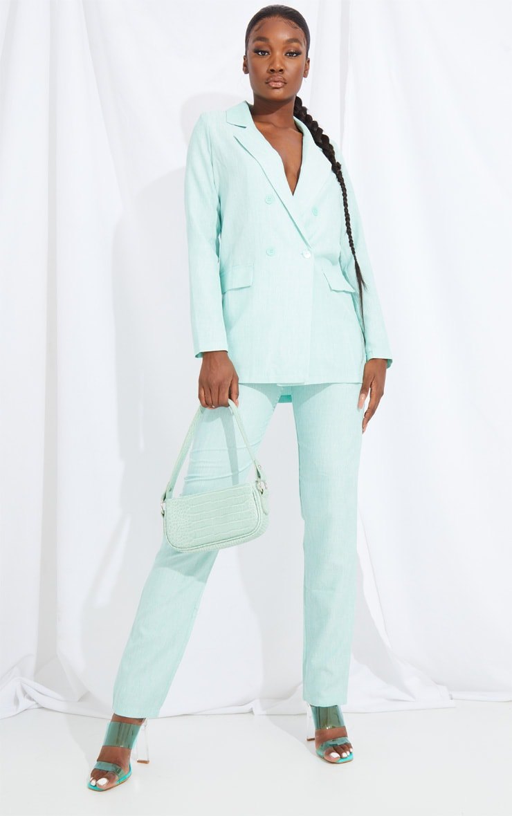Tall Mint Oversized Boyfriend Blazer 3