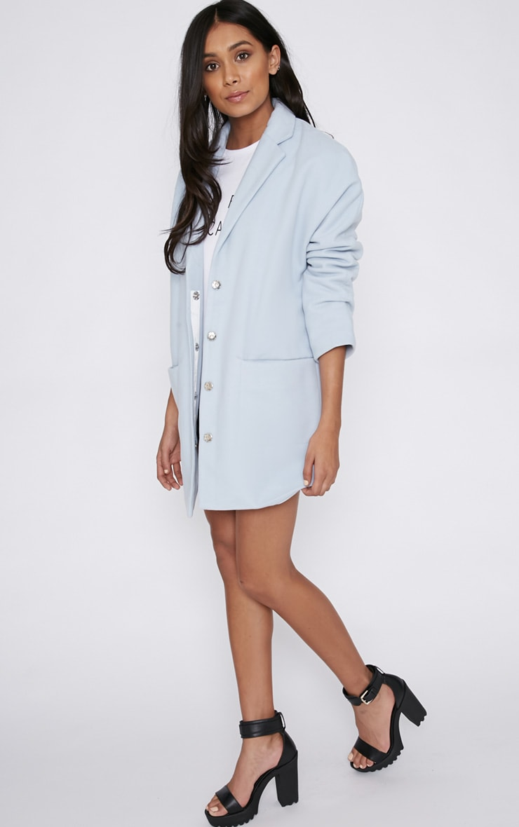 Hope Ice Blue Boyfriend Coat  5