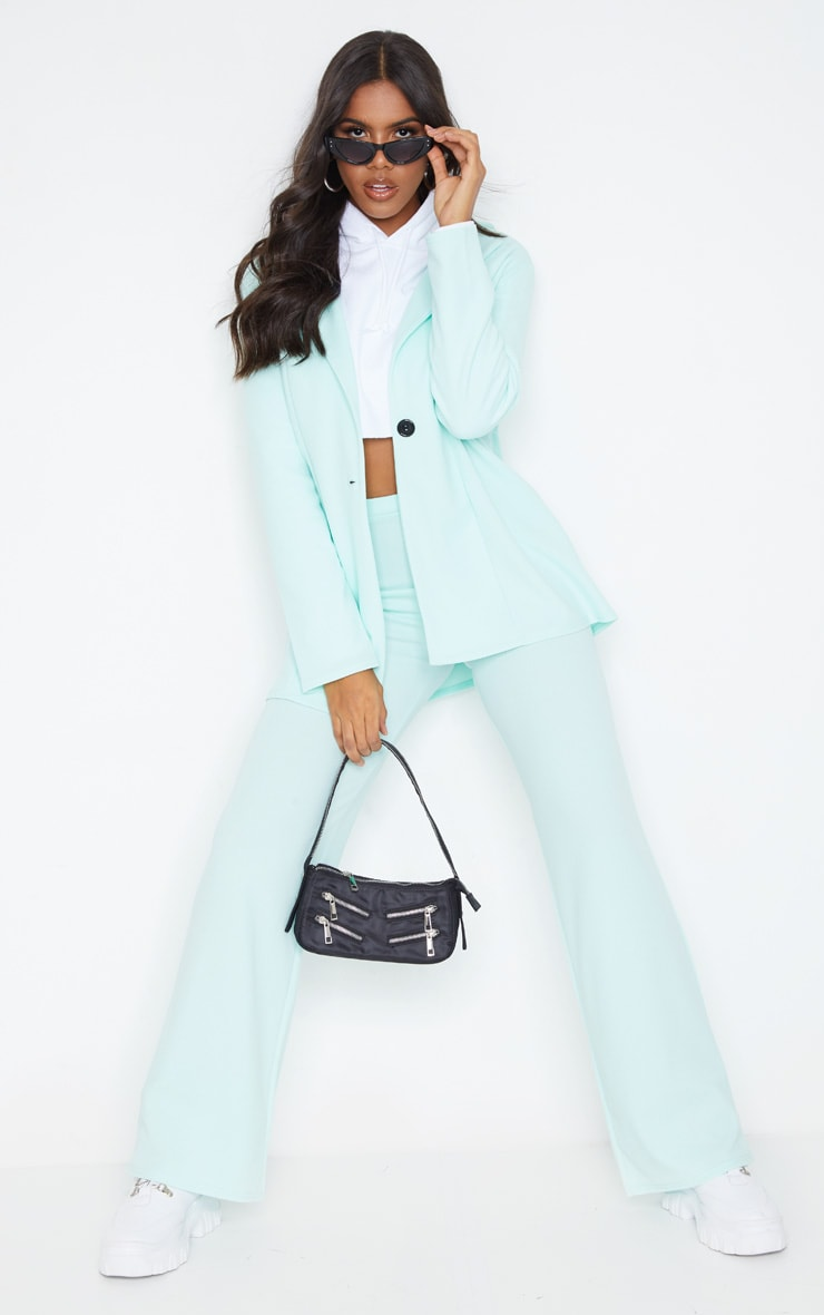 Mint Green Oversized Boyfriend Blazer 3