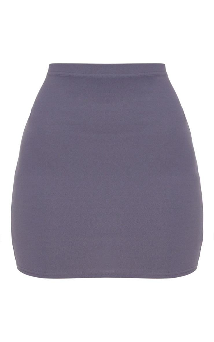 Dusky Blue Mini Skirt  3