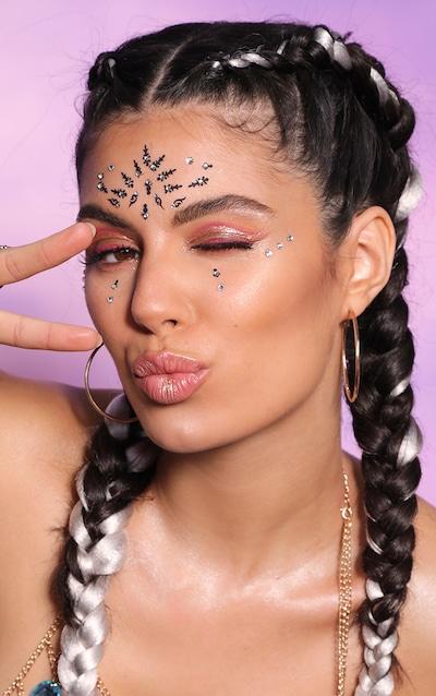 PRETTYLITTLETHING Boho Festival Face Jewel Multipack