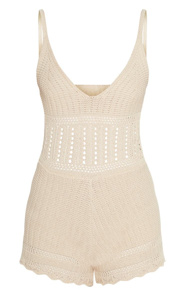 Stone Crochet Knit Playsuit 3